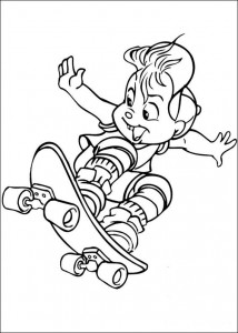 coloring page Alvin