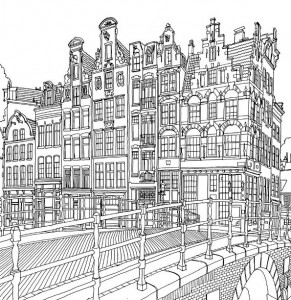 coloring page Amsterdam