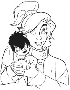 coloring page Anastasia (2)