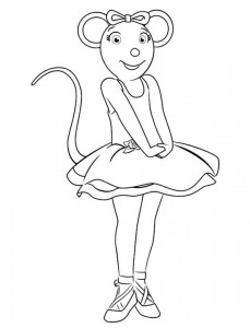 coloring page Angelina Ballerina (1)