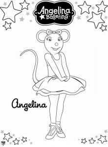 раскраска Анджелина Балерина (15)