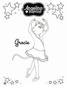 раскраска Анджелина Балерина (16)
