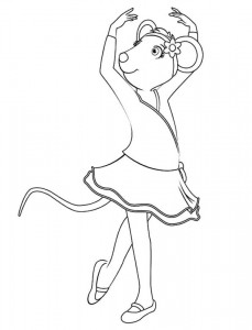 coloring page Angelina Ballerina (2)