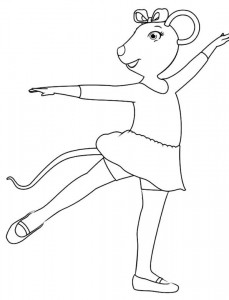 coloring page Angelina Ballerina (4)