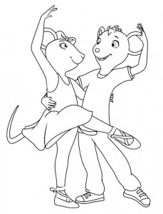 coloring page Angelina Ballerina (7)
