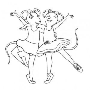раскраска Анджелина Балерина (8)