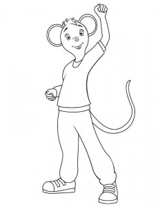 coloring page Angelina Ballerina