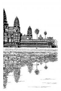 kleurplaat Angkor Wat, Hindoe Tempel (deel 2)