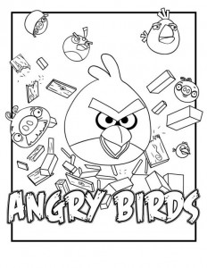 coloring birds angry birds 5