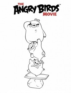 coloring page angry birds film
