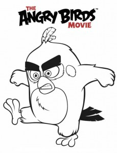 coloring page angry birds red
