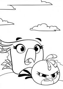 kleurplaat Angry Birds Stella (2)