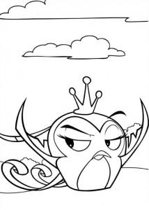 kleurplaat Angry Birds Stella (3)