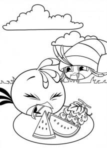 kleurplaat Angry Birds Stella (4)