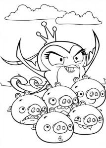 kleurplaat Angry Birds Stella (7)