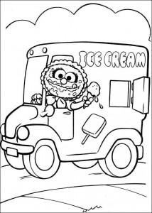 Animal coloring as an ice cream vendor