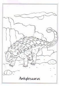 målarbok Ankylosaurus