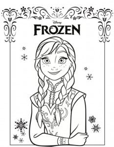coloring page anna frozen