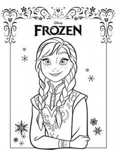 kleurplaat anna frozen