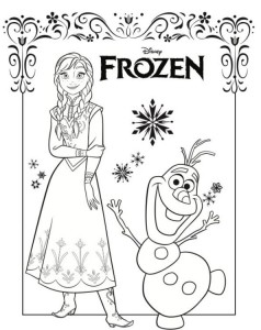 coloring page anna olaf