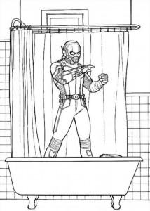 målarbok Ant man (1)