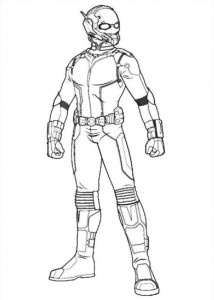 coloring page Ant man (11)