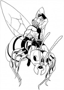coloring page Ant man (2)