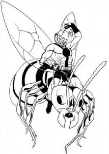 kleurplaat Ant man (2)