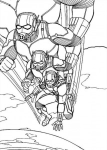 coloring page Ant man (3)