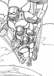 kleurplaat Ant man (3)
