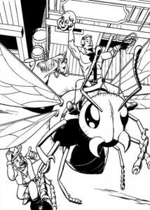 kleurplaat Ant man (4)