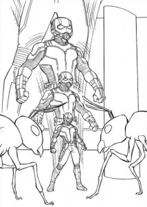 kleurplaat Ant man (5)