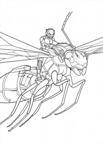 coloring page Ant man (6)