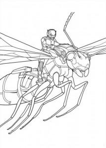 kleurplaat Ant man (6)
