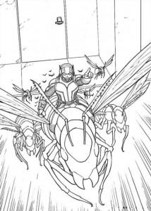 kleurplaat Ant man (8)