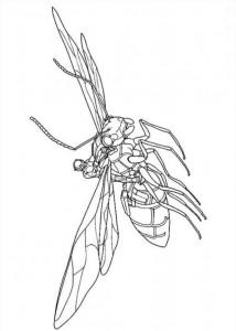 kleurplaat Ant man (9)
