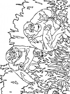 coloring page Monkeys (18)