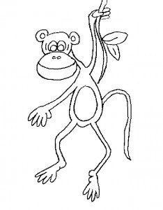 coloring page Monkeys (25)