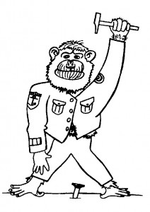 coloring page Monkeys (6)