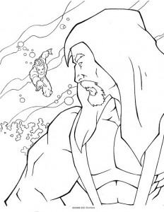 målarbok Aquaman (1)