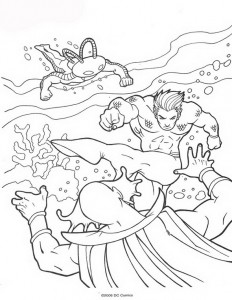 coloring page Aquaman (11)