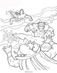 kleurplaat Aquaman (11)