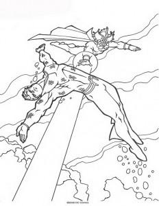 kleurplaat Aquaman (16)