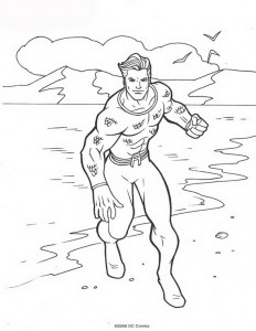coloring page Aquaman (17)