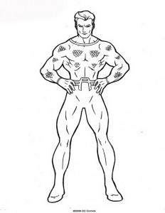 kleurplaat Aquaman (19)