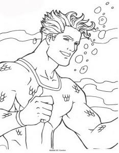 kleurplaat Aquaman (2)