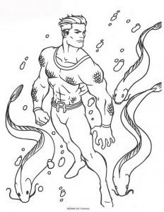 kleurplaat Aquaman (24)