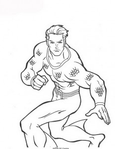 coloring page Aquaman (25)