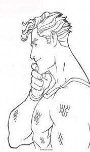 kleurplaat Aquaman (3)