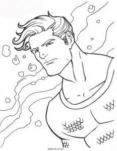 kleurplaat Aquaman (30)